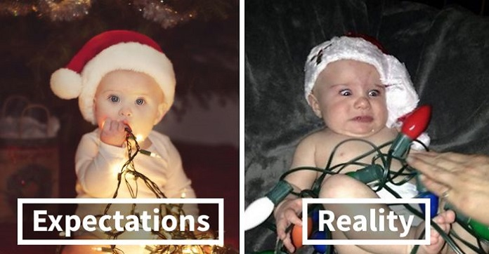 9 Hilarious Christmas Baby Photoshoot Fails That Will